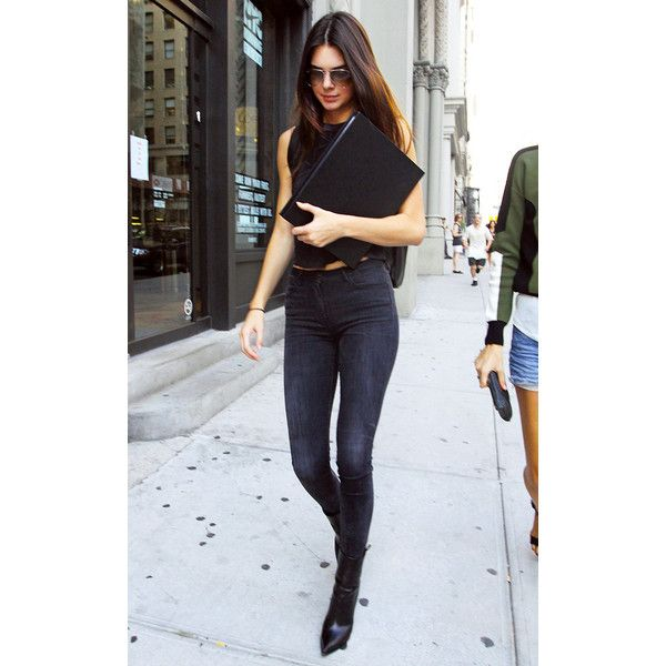 How Kendall Jenner Does Denim The Socal Way Liked On Polyvore Featuring Kendall And Kendall