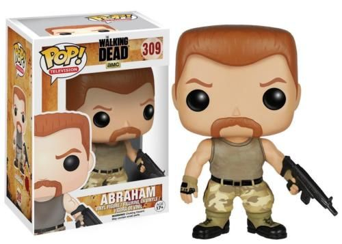 """He's on a mission to find a cure for this whole """"walker"""" thing. This Walking Dead Abraham Pop! Vinyl Figure features the tough character from AMC's hit zombie show. Vinyl figure measures about 3 3/4-inches tall and comes packaged in a window display box."""
