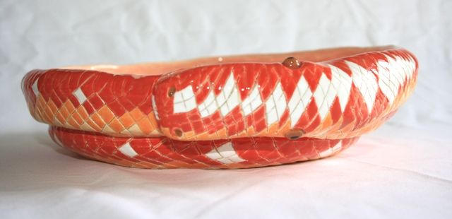 Handmade ceramic Snake Bowl