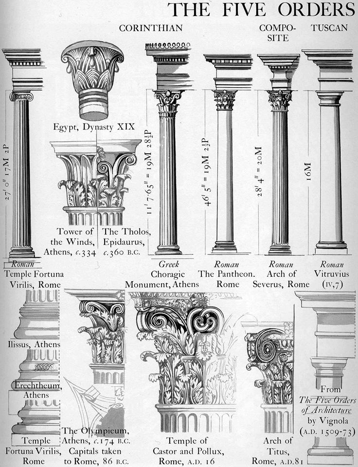 Graphic History of Architecture by John Mansbridge: The Five Orders