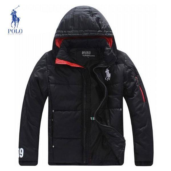 Chaquetas Polo Hombre XO55Campera Polo Ralph Lauren Hombre Color Puro Negro Con Capucha y Mejor