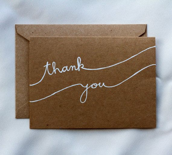 Handwritten Wave Thank You Card