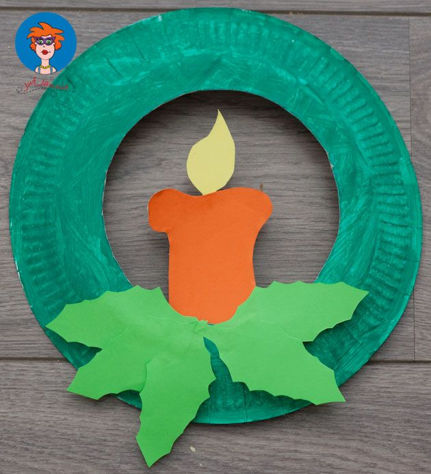 Christmas Candle Paper Plates