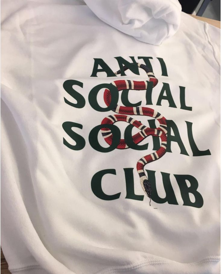 Assc Anti Social Social Club X Gucci Snake Custom