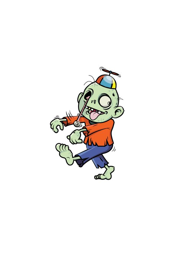Zany Zombie made for an English textbook called Tiddly Link 5 by Marcelle Versteeg.