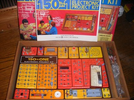 I had one of these Radio Shack electronic project kits growing up in the 70s. It was really cool.