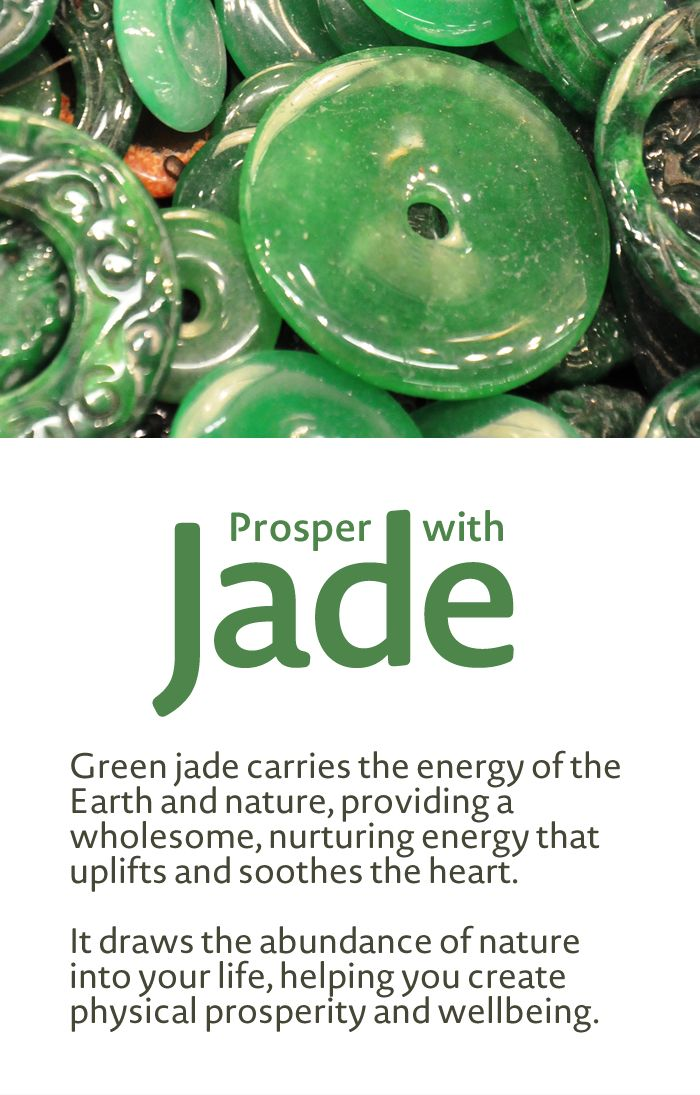 Jade - Abundance, Nature Energy, Wellbeing. Learn more about Gemstone Properties and Meaning and Gemstone Healing at www.beadage.net.