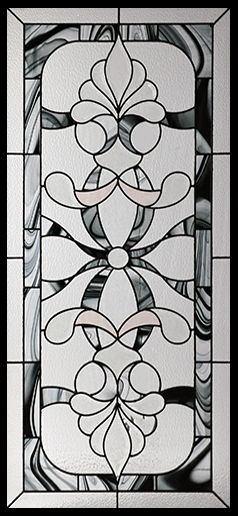 Stained Glass Door Inserts - Royale 22x48