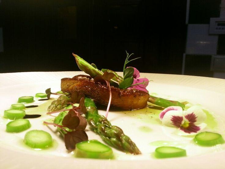 Foie gras & asparagus