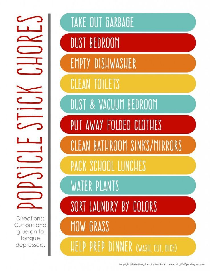 Chore Chart for Kids Printable chore chart, Chart and Kids charts - chore chart template word