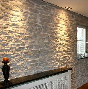 White Brick Fireplace Grey Walls