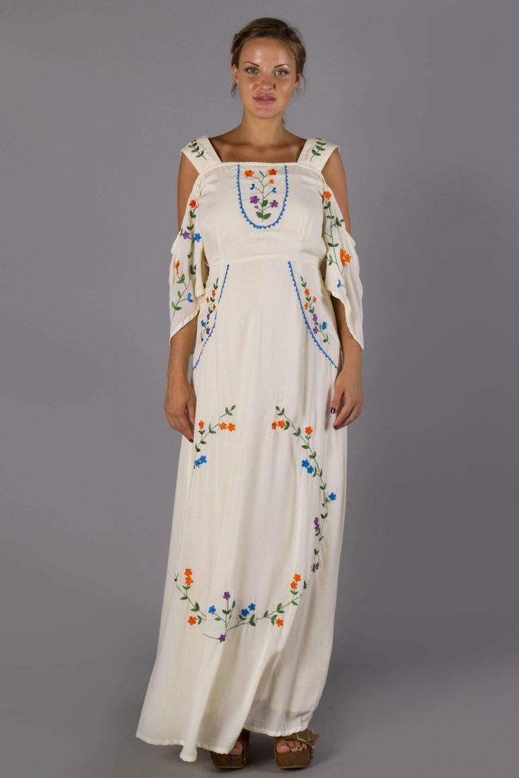 """""""Miss Vienna"""" hand embroidered maternity Baby Shower dress"""
