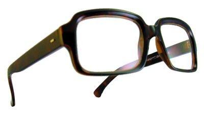 $13.00 Sam Small Square Clear Glasses Tortoise