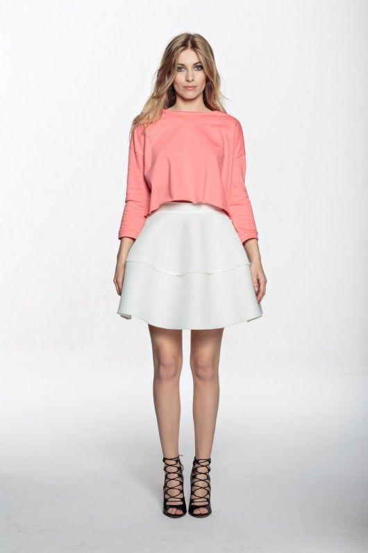 Future Mini Basketwave skirt white