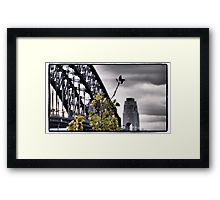 Sydney Harbour Bridge detail framed print, also available on canvas and stickers.