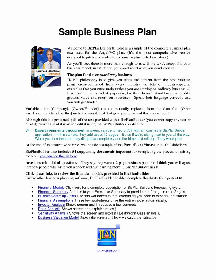 Blank Business Plan Template [Free PDF] Word (DOC