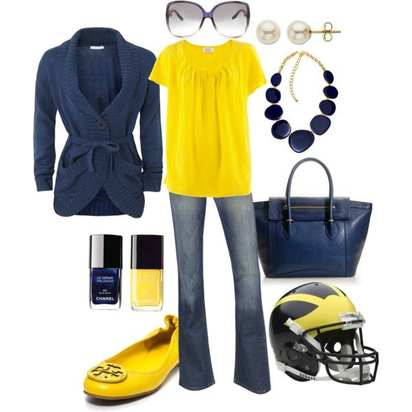 Michigan Football Game Outfit.