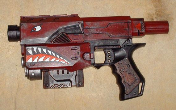 custom painted nerf | Borderlands 2 Custom Painted Nerf Recon Space Gun Cosplay LARP