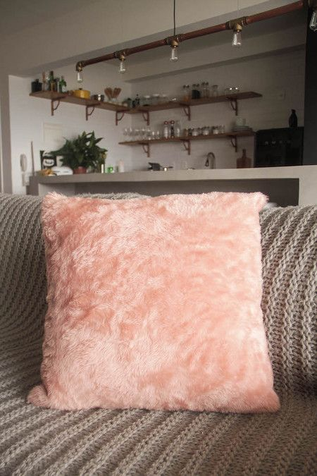 Rose Furry Pillow