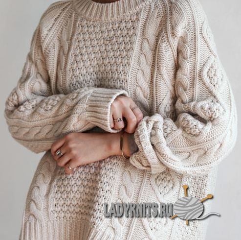 Модные вязаные свитера с косами (аранами) основные тенденции сезона зима 2016-2017