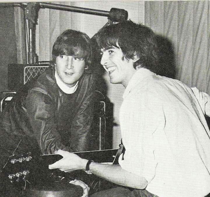 1966 - John Lennon and George Harrison.