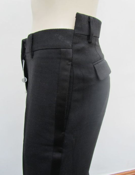 misaligned tuxedo trousers • martin margiela