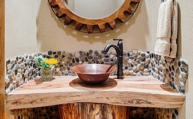 Die besten 25 spiegel holzrahmen ideen auf pinterest spiegel mit holzrahmen treibholz - Ausgefallene badmobel ...
