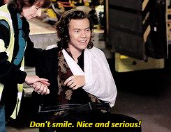 Lol when u tell Harry to be serious!