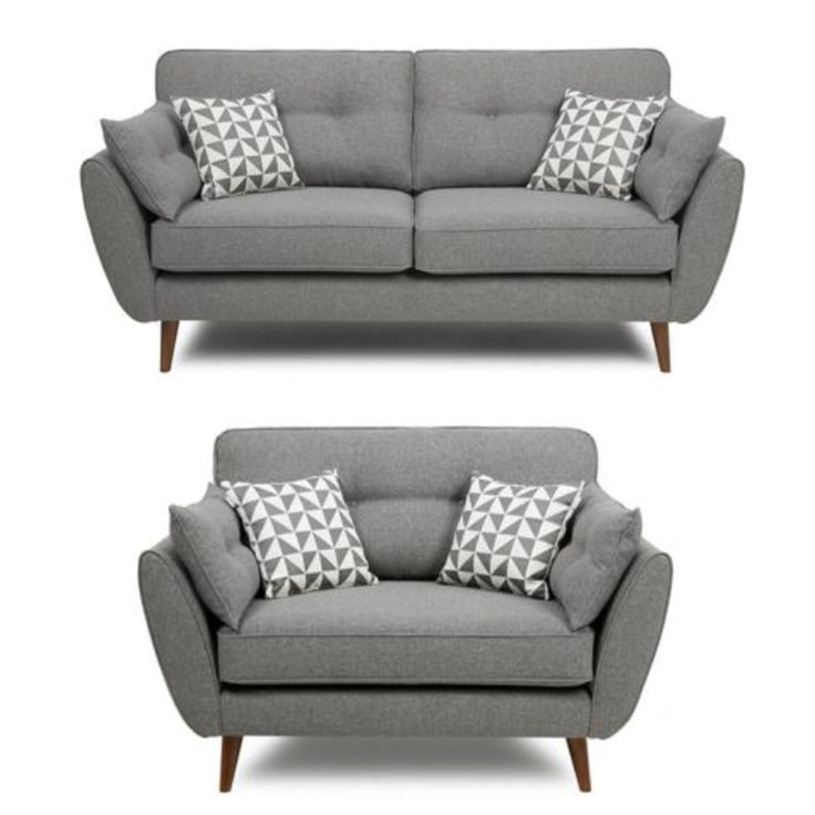 French Connection grey sofa and cuddle chair                                                                                                                                                                                 More