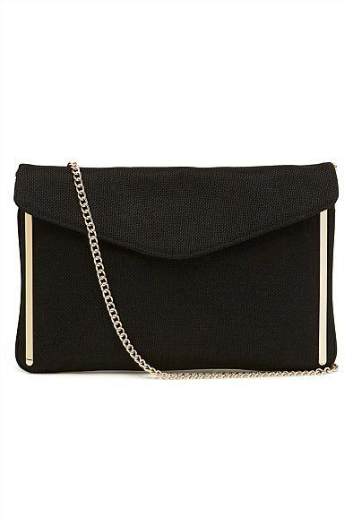 Womens Wallets, handbags, clutches, shoulder bags & coin purses | Witchery Online - Millie Metal Trim Clutch #witcherywishlist