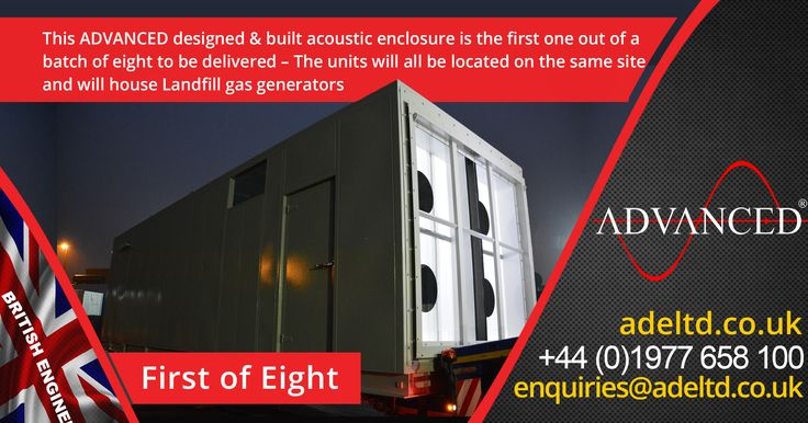 First of Eight...  This ADVANCED designed & built acoustic enclosure is the first one out of a batch of eight to be delivered – The units will all be located on the same site and will house Landfill gas generators.   Tel: +44 (0)1977 658 100 Email: enquiries@buff.ly/2hIDOM2  #DieselGenerator #Chrsitmas #UK #farming #genset #DieselGenerators #farm #Xmas #MadFriday