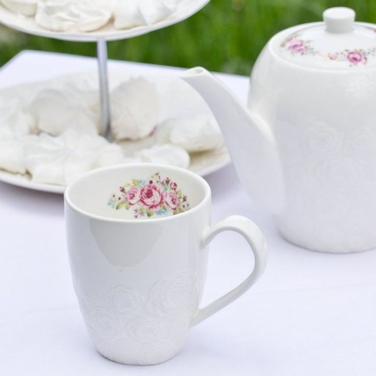 Kubek Lovely roses porcelana 300ml #mug #roses #motherday #dekoriapl