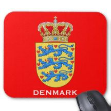 Denmark* Coat of Arms Mousepad