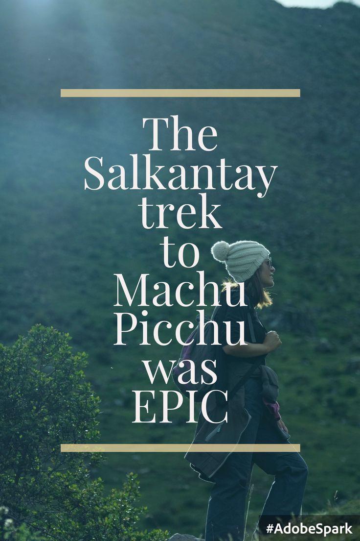 It was epic! Really! Read the full story on http://hiddengemstheblog.com/best-trek-south-america-salkantay-peru/