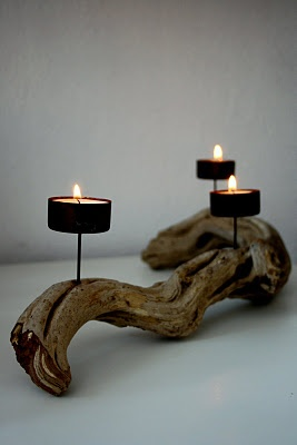 Candle holder . . . simplest driftwood project yet