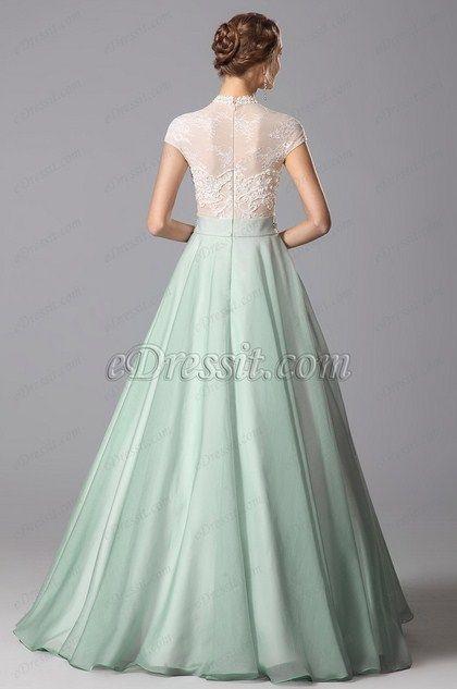eDressit  Robe de soirée longue dentelle style princesse(02151304)