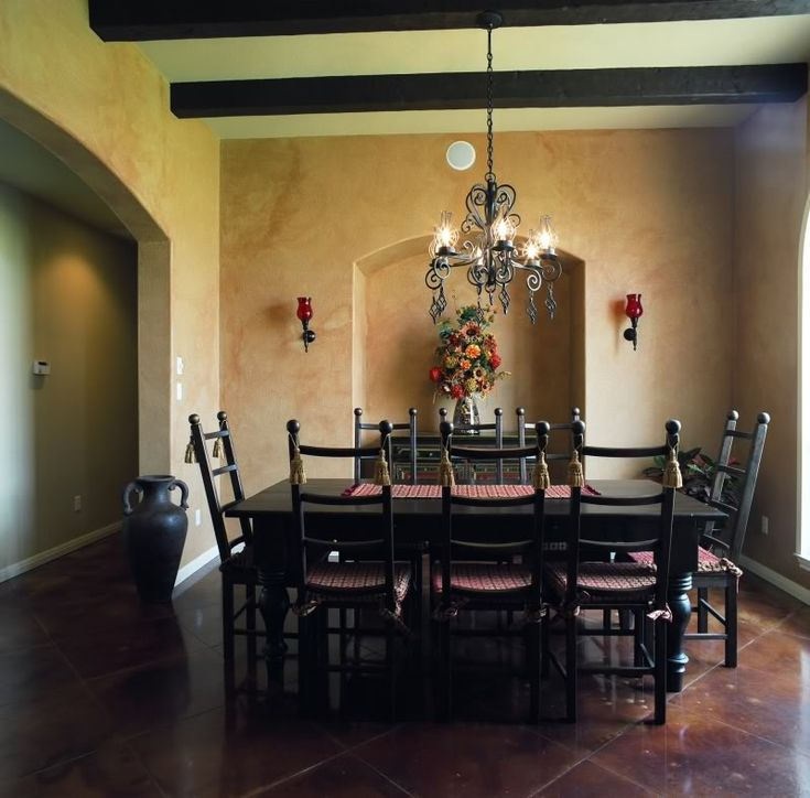 Spanish Style Dining Room   Love This Wall Inset