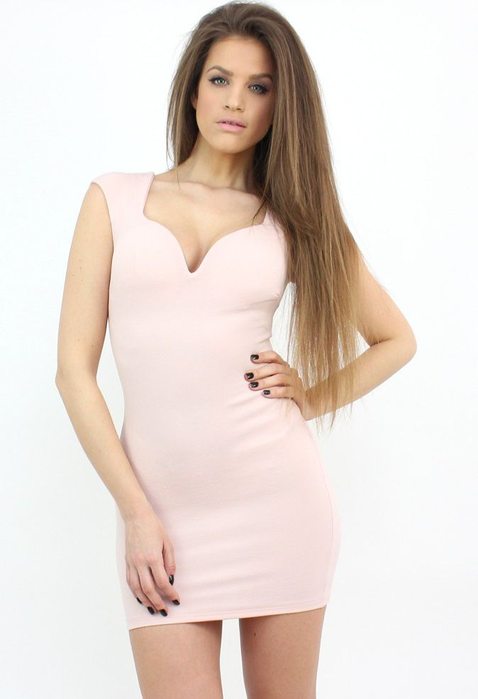 Pastel Pink Bodycon Dress to show off your best and sexiest features...:)  #dress #style #shopping #moda #party #formal #fashion