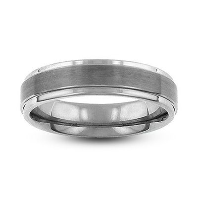 Zales Ladies 12.0mm Comfort Fit Flat Wedding Band in Sterling Silver 7VdRf5sFyY