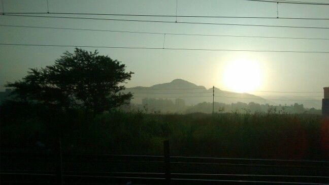 morning in train...