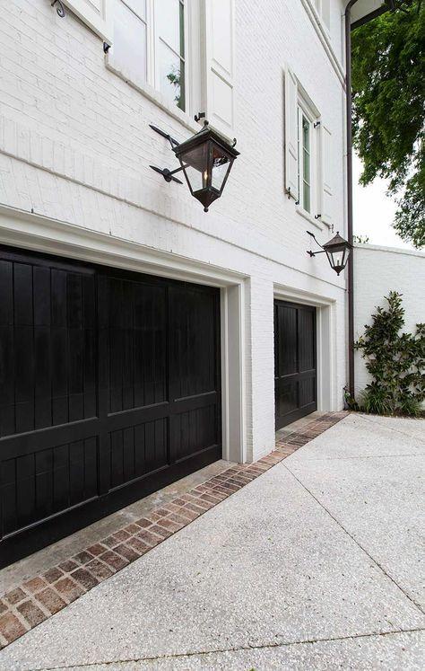 Na moda exterior janela guarnição reforma portas pretas idéias   – Invite me in