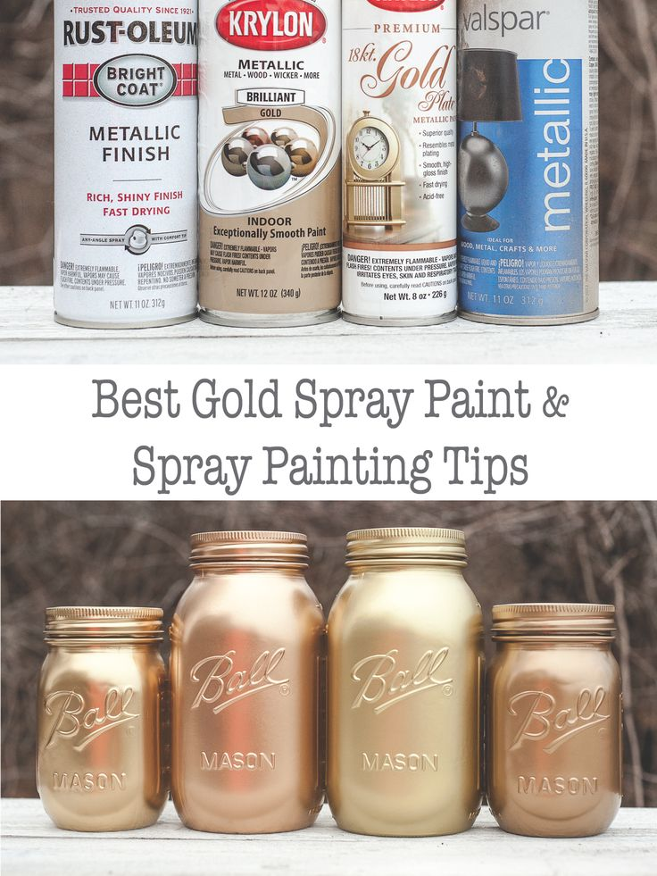 Gold spary paing comparison and spray painting tips.