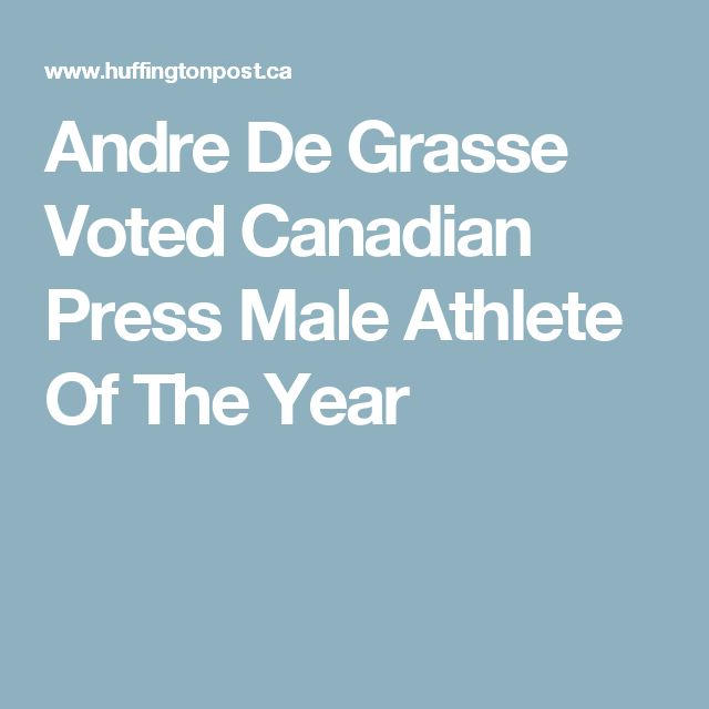Andre De Grasse Voted Canadian Press Male Athlete Of The Year