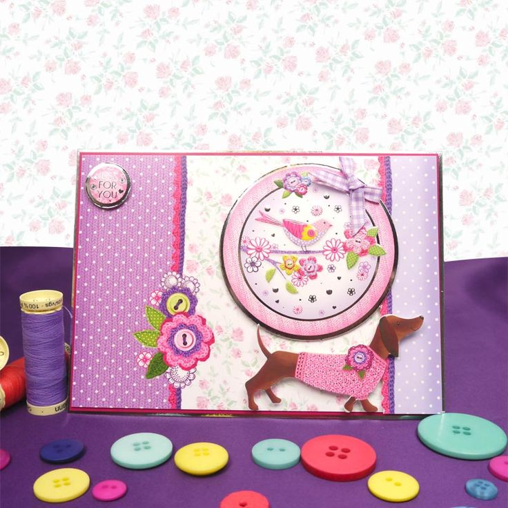 Card made using Birthday Wishes Luxury Topper Set from the Faberdashery Collection by Hunkydory Crafts