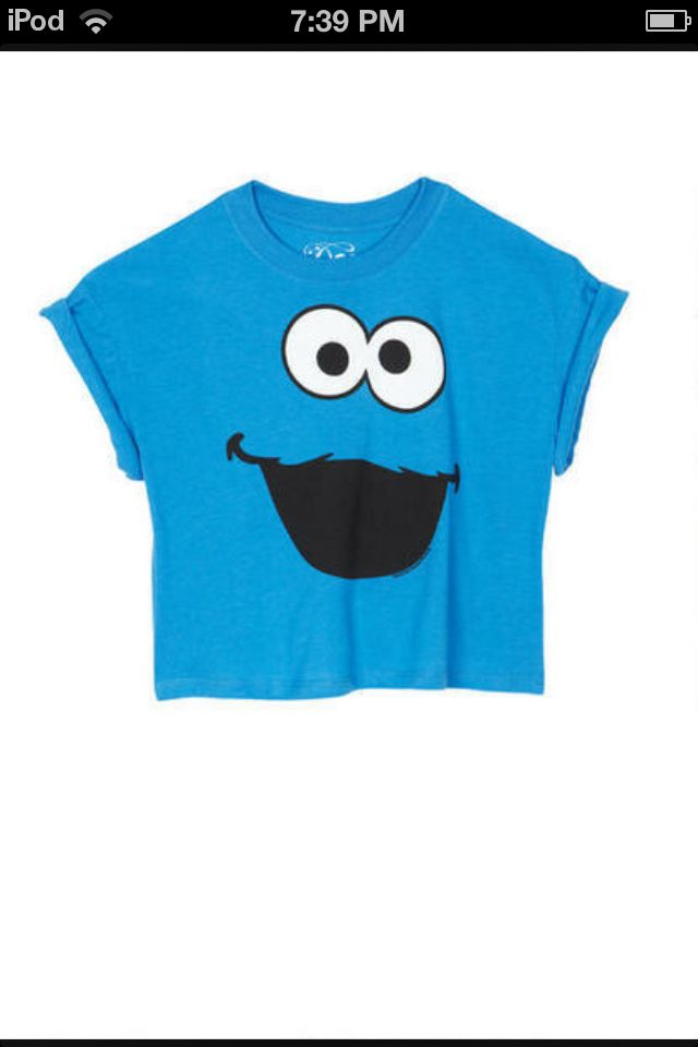 Cookie Monster Delia graphic tee