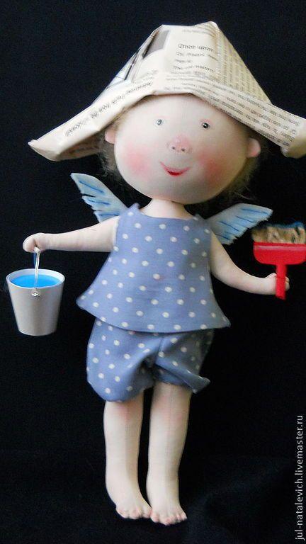 Купить Выкройка куклы - выкройка куклы, выкройка, интерьерная кукла, грунтованный текстиль, текстильная кукла