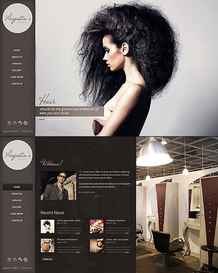 8 best Hair salon website ideas images on Pinterest