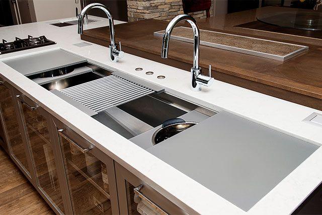 The Galley Ideal Workstation 7 Oversized Stainless Steel Kitchen Sink Casa Due Kitchen Pinterest
