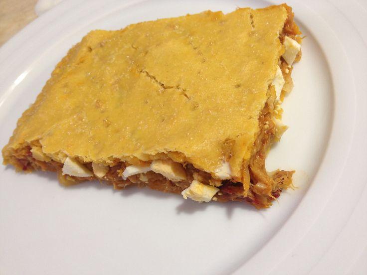 Empanada gallega de atún sin gluten paso a paso
