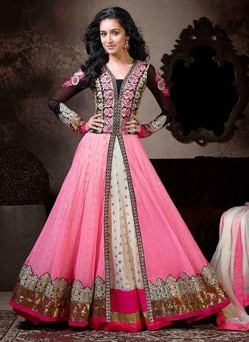 Shraddha Kapoor Pink Floor Length Anarkali Suit – Lashkaraa